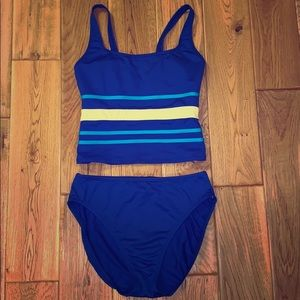 Vintage Cole of California blue two-piece swimsuit